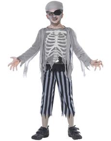 Disfraz de muchacho de barco fantasma para niño