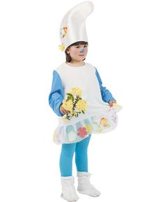 Disfraz de Enanita Azul del bosque niña
