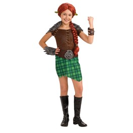 Disfraz de Fiona Shrek Guerrera deluxe para niña