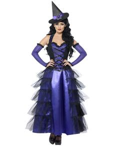 Disfraz de bruja glamurosa para mujer