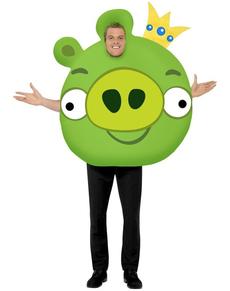 Disfraz de cerdo rey de Angry Birds para adulto