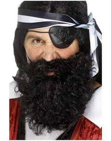 Barba de pirata negra