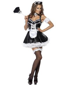Disfraz de criada francesa coqueta Fever
