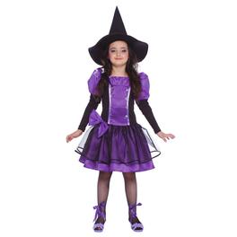 Disfraz de bruja morada para niña