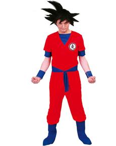 Disfraz de guerrero Saiyajin para hombre