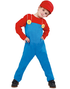 Disfraz de maquinista de tren Mario para niño