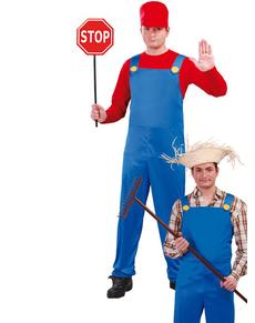 Disfraz de maquinista de tren Mario
