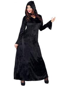 Disfraz de mujer satánica negra