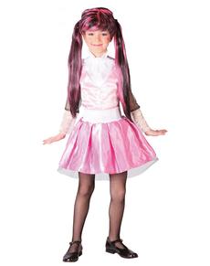Disfraz de gótica rosa para niña