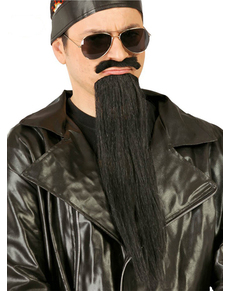 Barba negra y larga