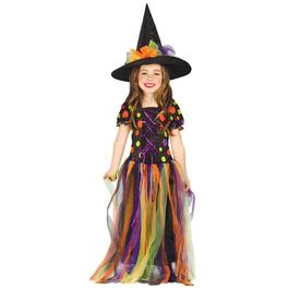 Disfraz de Bruja Círculos de Colores para niña