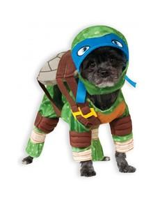 Disfraz de Leonardo Tortugas ninja para perro