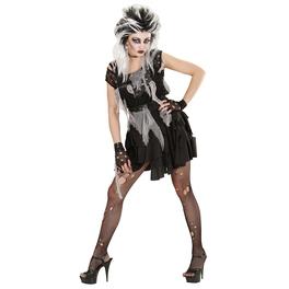 Disfraz de punky zombie para mujer