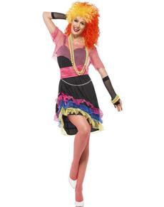 Disfraz de cantante Cyndi de los 80 para mujer
