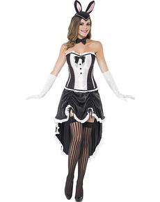Disfraz de conejita burlesque para mujer