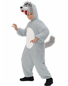 Disfraz de lobo de peluche infantil