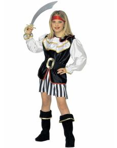 Disfraz de pirata pícara para niña
