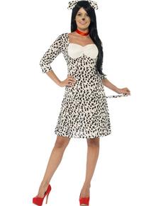 Disfraz de dálmata elegante para mujer