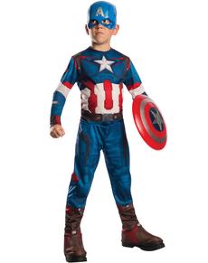 Disfraz de Capitán América Classic Los Vengadores II La Era de Ultrón para niño