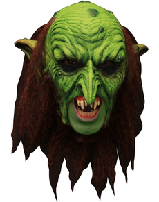 Máscara Warlock Goblin Deluxe de látex  con dientes