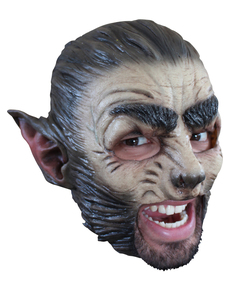 Máscara Wolf de látex con dientes