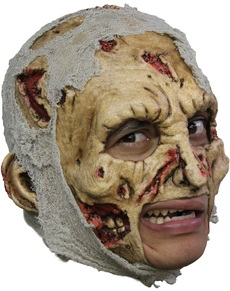 Máscara Zombie Deluxe de látex con dientes
