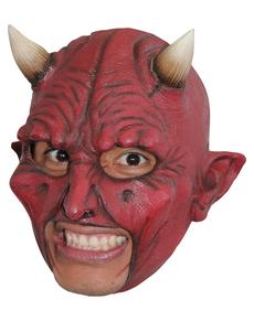 Máscara Devil de látex con dientes
