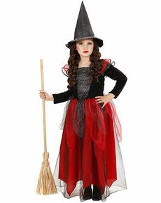 Disfraz de bruja de las tinieblas para niña