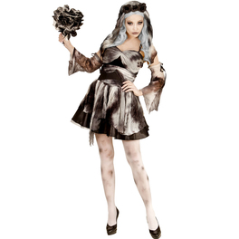 Disfraz de novia de la muerte zombie para mujer