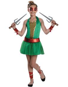 Disfraz de Raphael Las Tortugas Ninja para niña