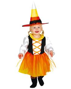 Disfraz de brujita naranja para bebé