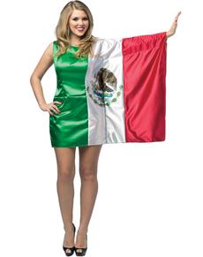Disfraz de bandera de México para mujer
