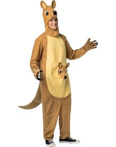 Disfraz de canguro con bolsa para hombre