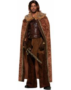 Capa marrón medieval para hombre