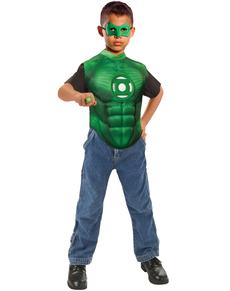 Kit disfraz de Hal Jordan Linterna verde para niño