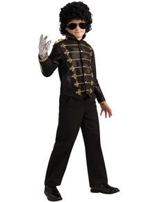 Chaqueta de Michael Jackson militar deluxe negra para niño