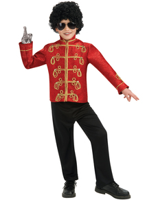 Chaqueta de Michael Jackson militar deluxe roja para niño