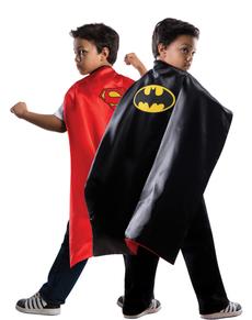 Capa reversible de Superman Batman DC Comics para niño