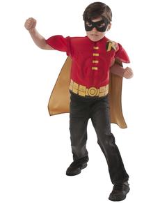Kit disfraz de Robin DC Comics musculoso para niño