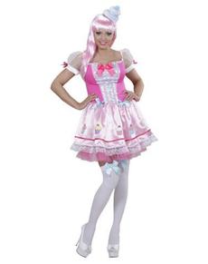Disfraz de cupcake rosa para mujer