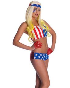 Disfraz de Lady Gaga bandera USA