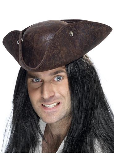 sombrero pirata de tres picos marr n  prar online en